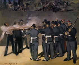 Miramare II Edouard-Manet-Paintings-The-Execution-of-the-Emperor-Maximilian-1867