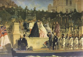 Miramare colocar esseDell'Acqua_Arrival_of_Empress_Elisabeth_in_Miramare